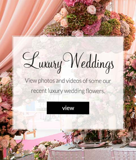 luxury weddings: view photos and videos of some of our recent luxury wedding flowers