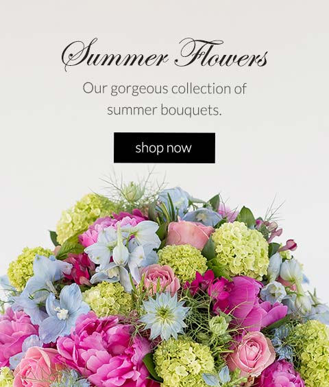 Our gorgeous collection of summer bouquets for same day delivery and click & collect