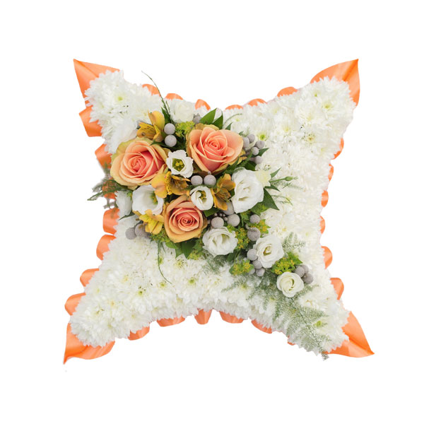 Traditional Funeral Cushion Flower Arrangement
