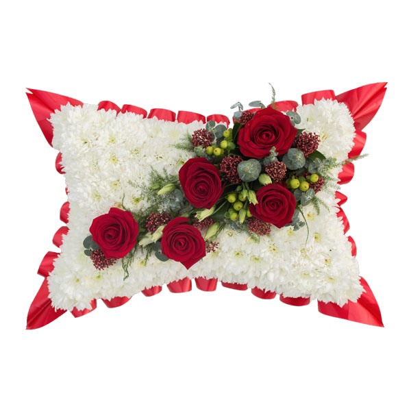 Traditional Funeral Pillow Flower Arrangement