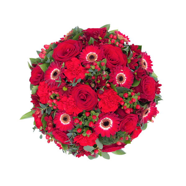 Rich Red Funeral Posy