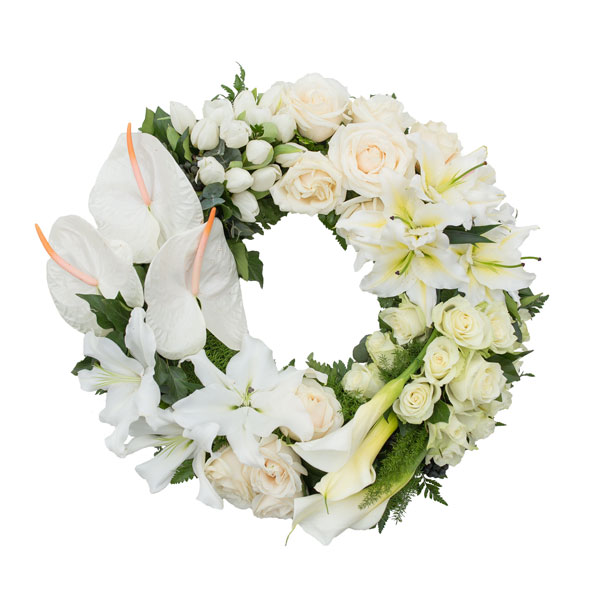 Lily & Rose Funeral Wreath