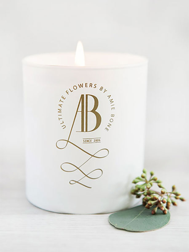 sweet pea and peony scented candle by amie bone flowers