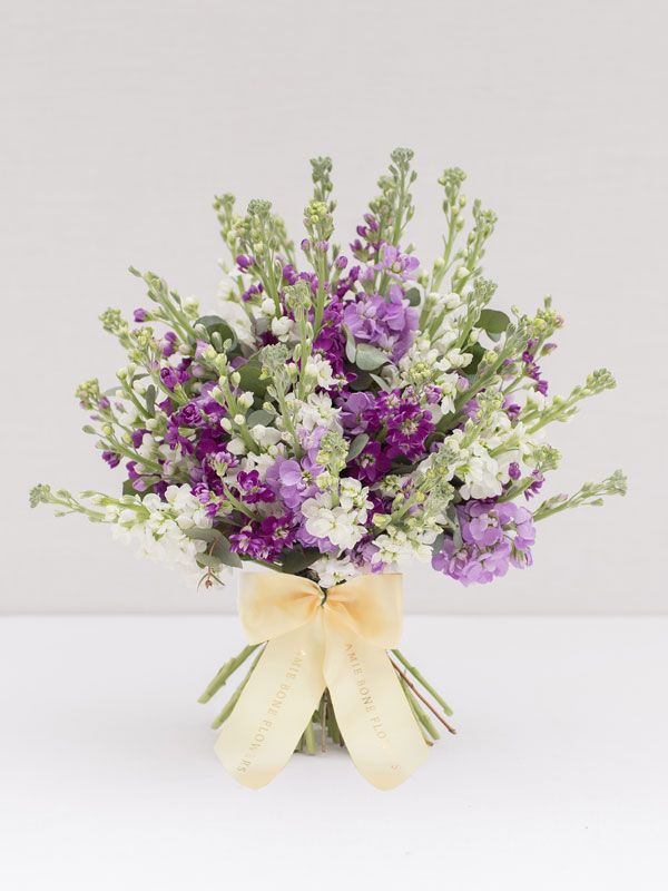 scented stocks mother's day bouquet from amie bone flowers