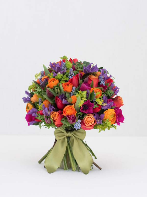 colour burst spring bouquet of flowers from amie bone flowers