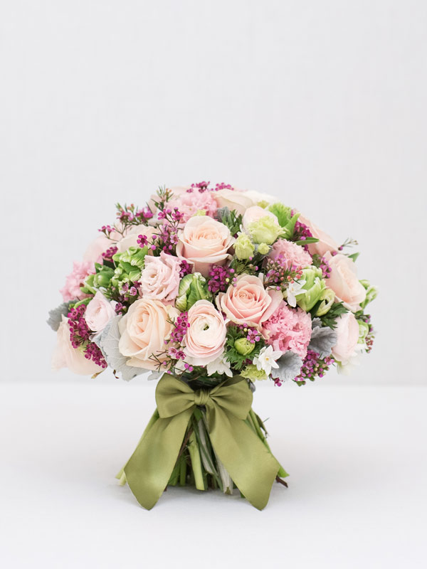 pastel glow spring bouquet of flowers from amie bone flowers
