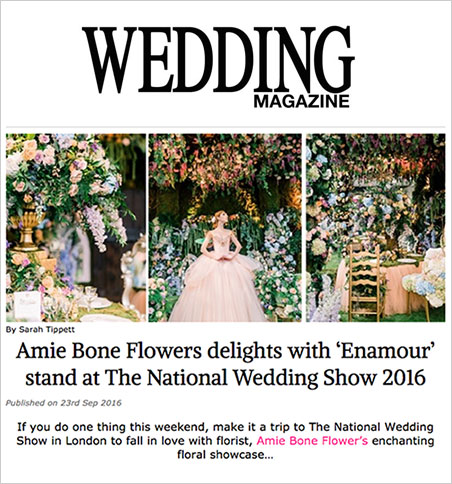 amie bone delights with 'enamour' stand at the national wedding show 2016