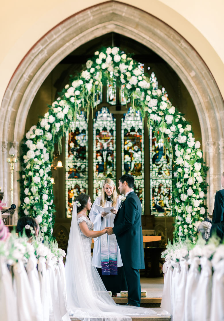 amie bone flowers luxury wedding at botleys mansion