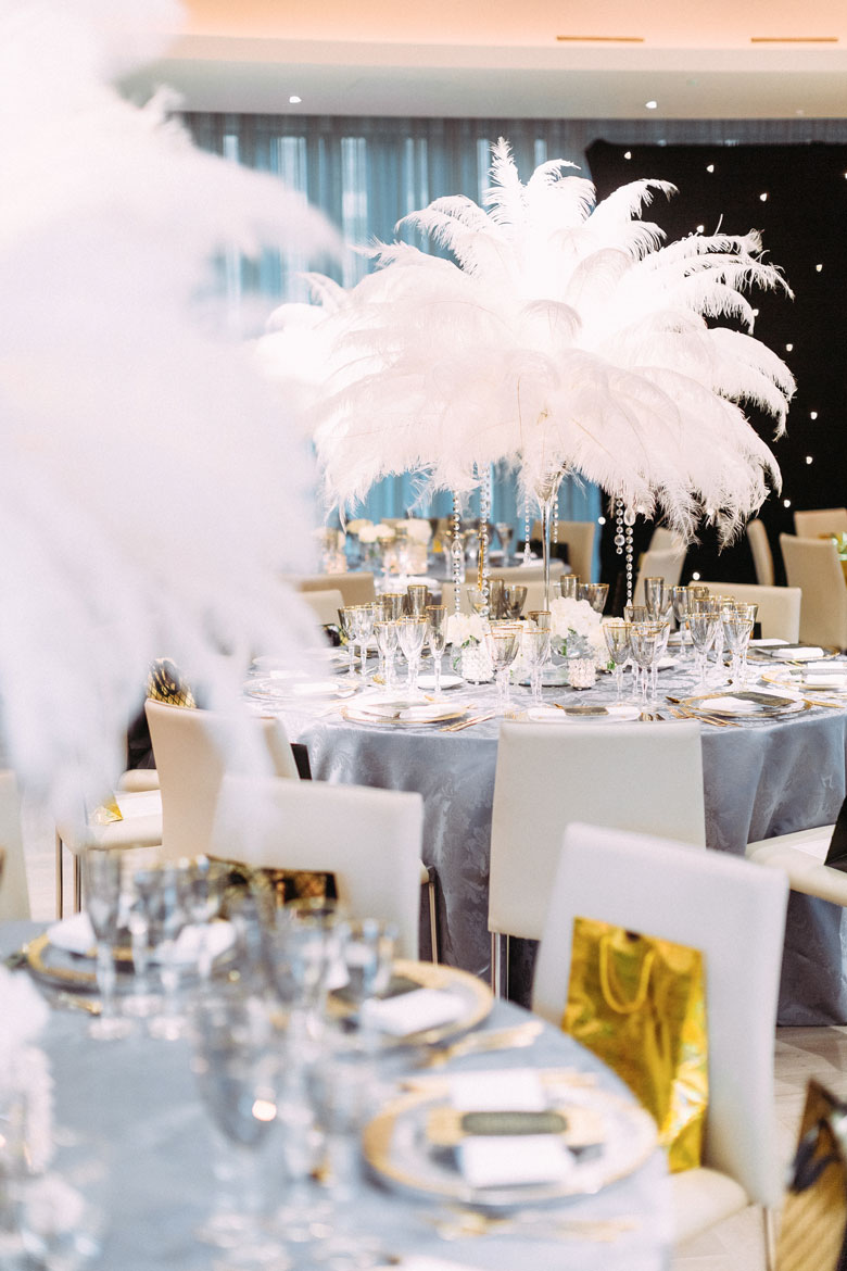 the great gatsby themed party at the grove hotel by amie bone flowers
