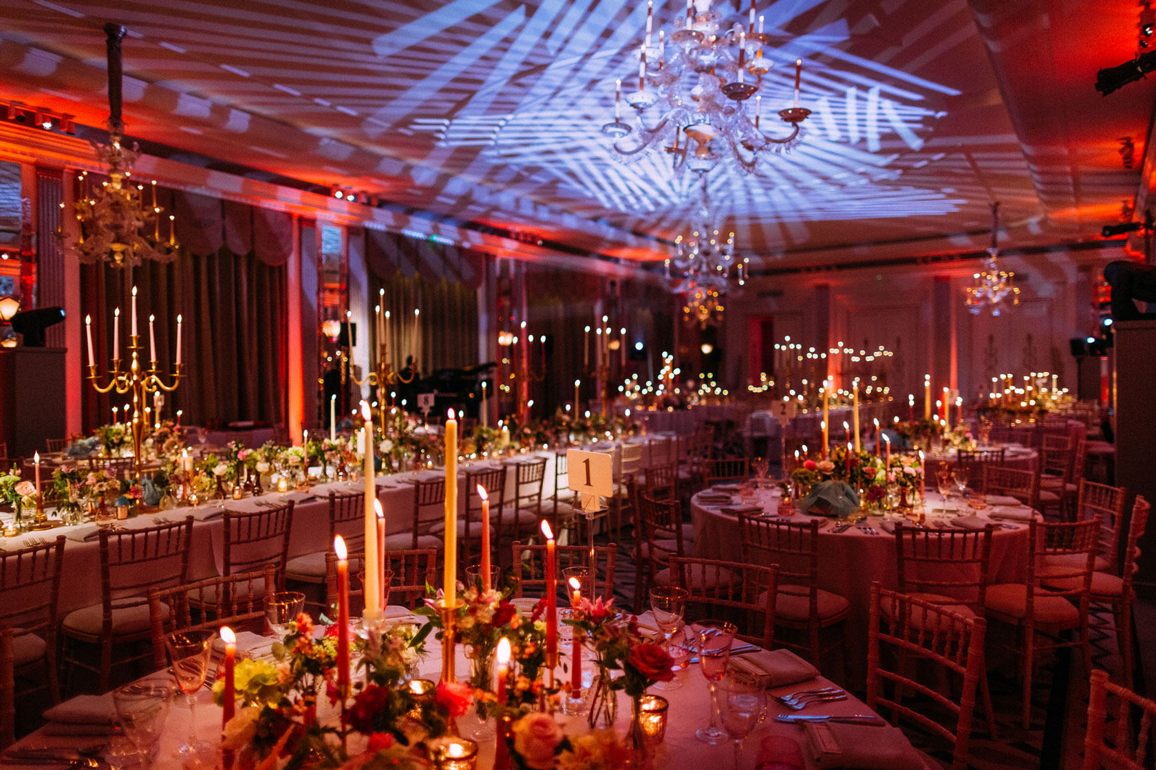 A candlelit wedding at Claridge's