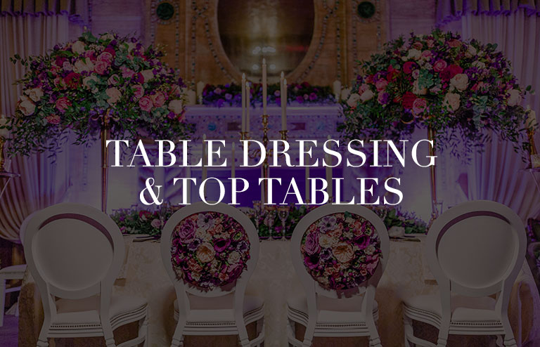 table dressing and top tables