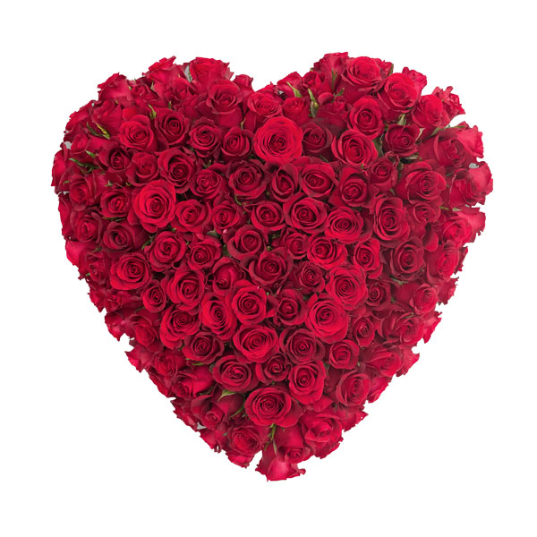 All Rose Heart Flower Tribute Order Funeral Flowers Online