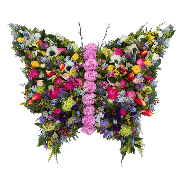 Butterfly Flower Tribute Order Special Funeral Tributes Online